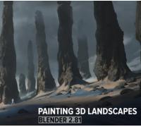 [Gumroad] Painting 3D Landscapes [ENG-RUS]. Иллюстрация 3D-ландшафта в Blender 2.81