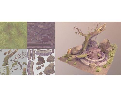 [CGMA] Stylized 3D Asset Creation for Games [RUS]. Создание стилизованного 3D-ассета для игр.