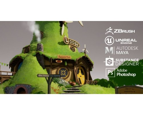 [CGMA] Environment Art for Games in UE4 [ENG-RUS]. Создание окружения для игр в Unreal Engine 4