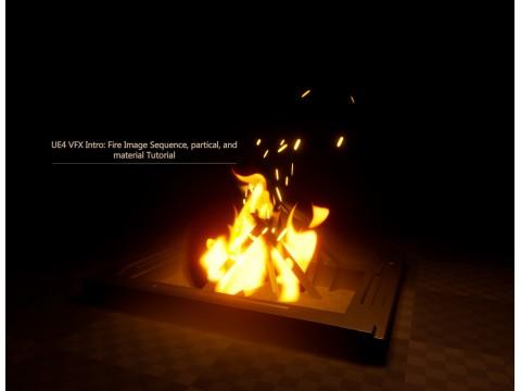 """16.09.21 добавлен курс """"Введение в VFX в UE4: Последовательность Изображений Огня, Руководство по частицам и материалу"""""""