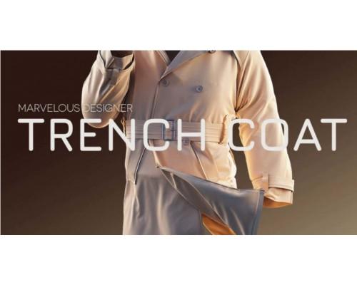 [Gumroad] Creating a Trench coat using Marvelous Designer and ZBrush [ENG-RUS]. Создание тренчкота с Marvelous Designer и ZBrush.